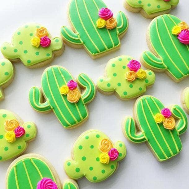 cactus cookies diy cinco de mayo decorations
