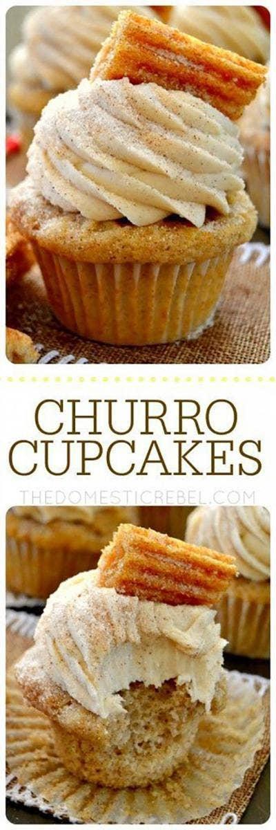 churro cupcakes diy cinco de mayo decorations