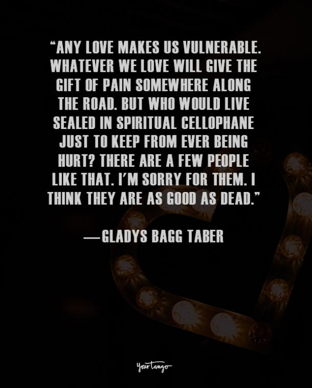 Gladys Bagg Taber true love quote
