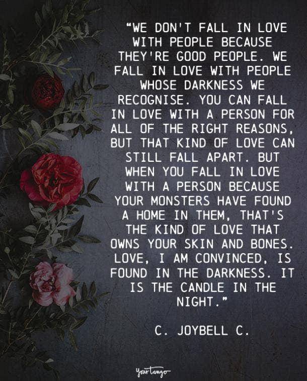 C. Joybell C. true love quote