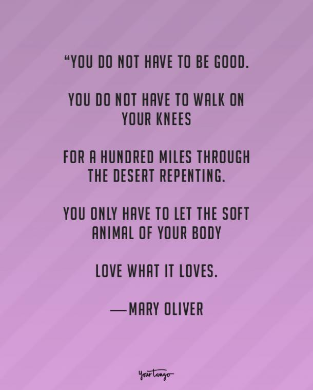 Mary Oliver true love quote