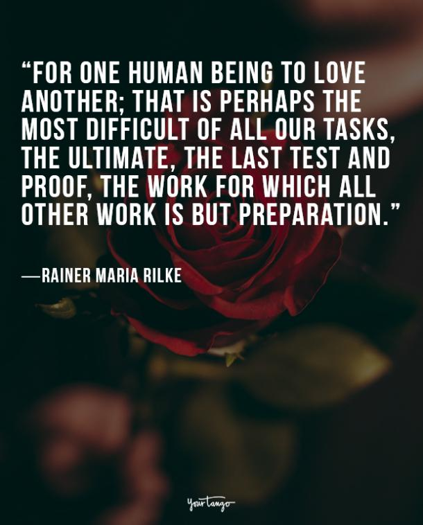 Rainer Maria Rilke true love quote