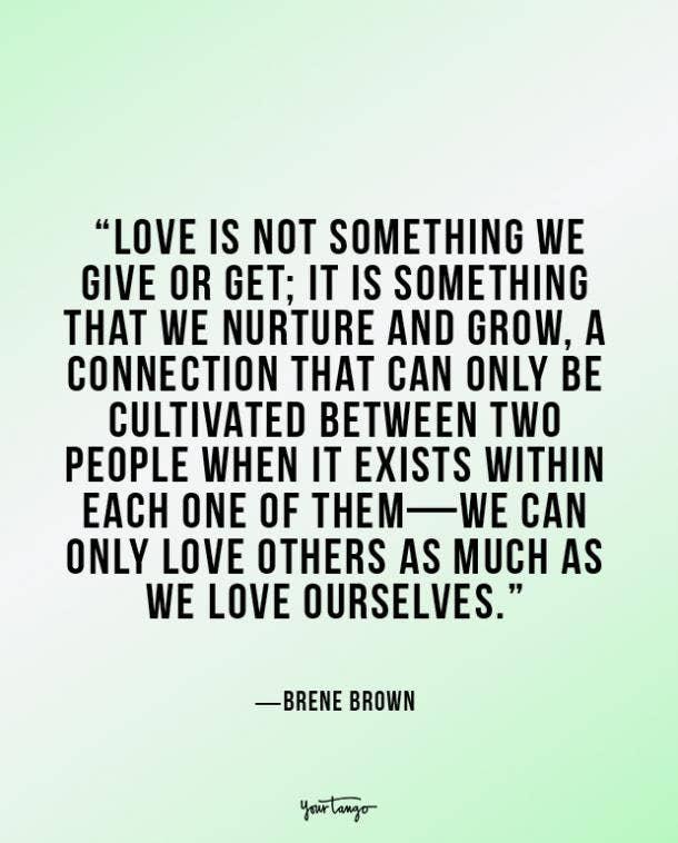 Brené Brown true love quote