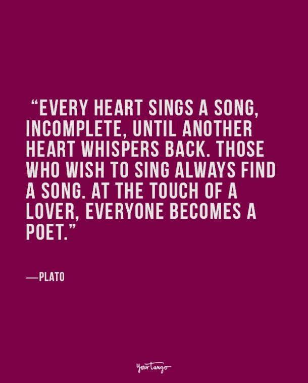 Plato true love quote