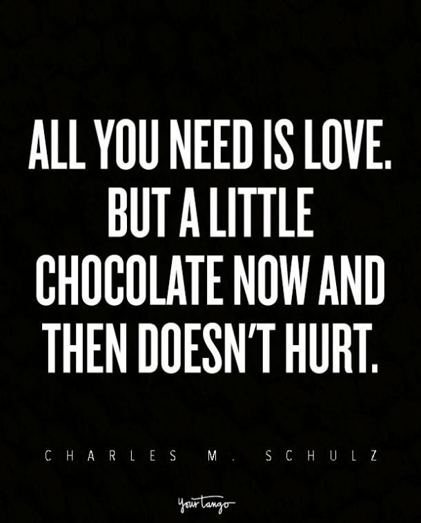 charles m schulz food and love quote