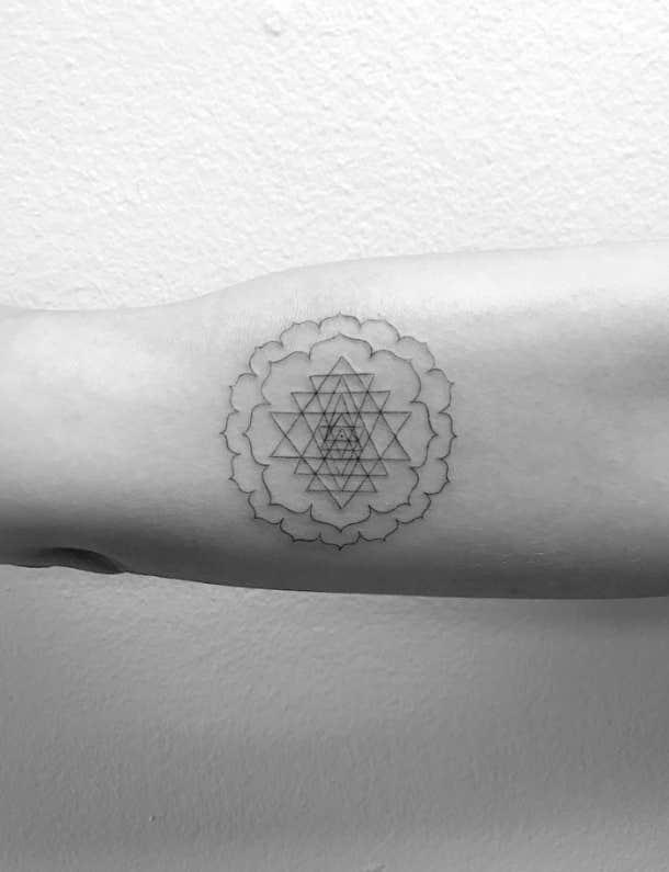 minimalist spiritual tattoo