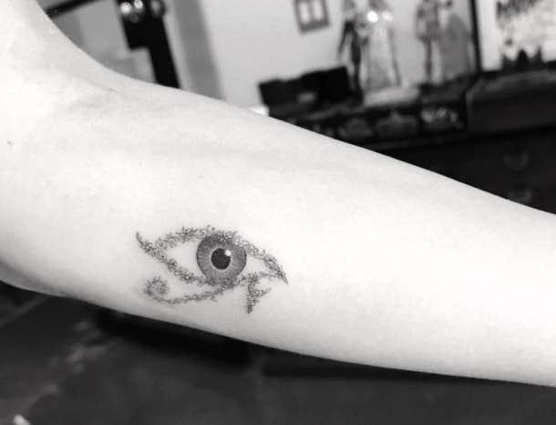 evil eye minimalist tattoo