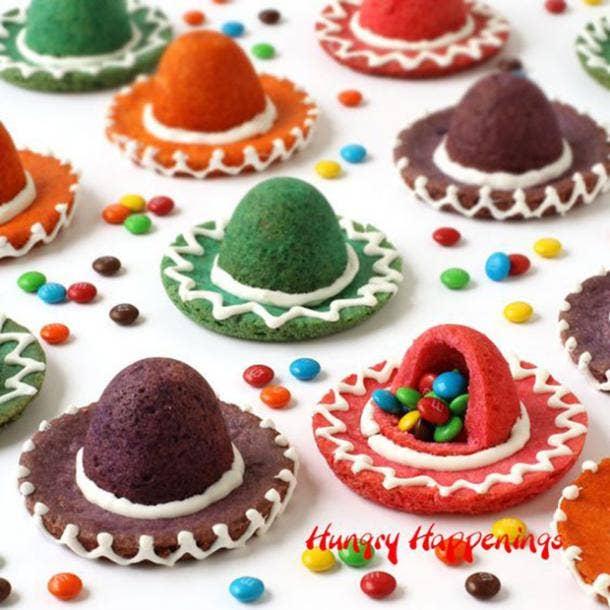 sombrero cookies diy cinco de mayo decorations
