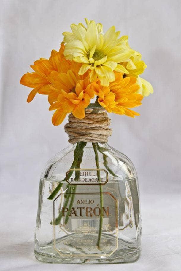 patron flower vase diy cinco de mayo decorations