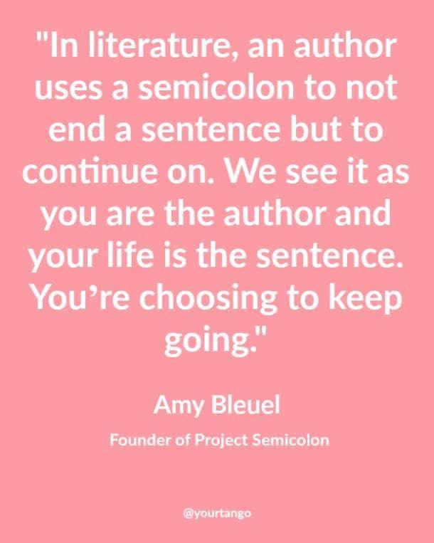 semicolon quote