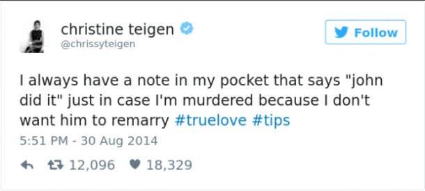 Chrissy Teigen quotes Chrissy Teigen memes Chrissy Teigen twitter tweets