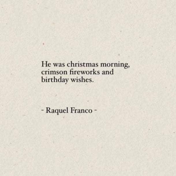 Raquel Franco sweet love quote