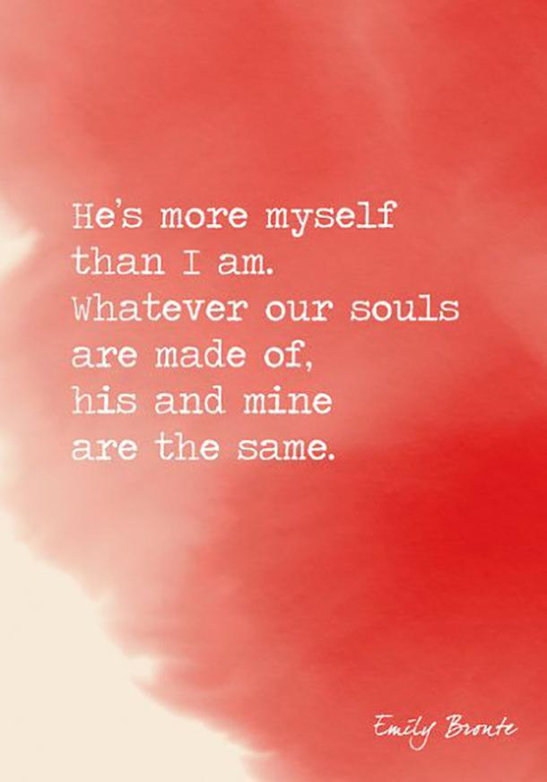 Emily Bronte sweet love quote
