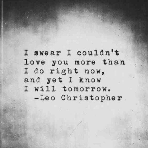 Leo Christopher sweet love quote