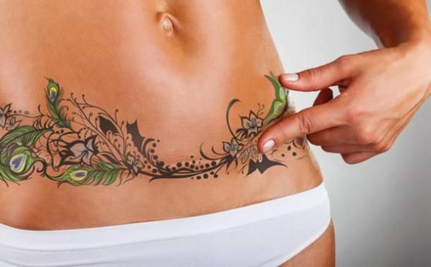 16 Best Stretch Mark Tattoos That Will Make You Love Your Body ...