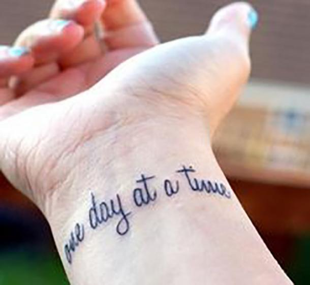 Tatuaje de cita de apoyo