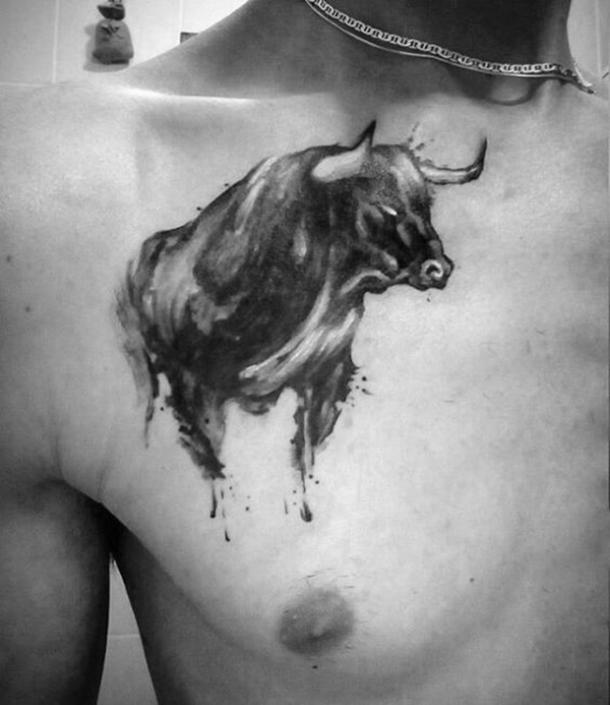 80f9bdaaec1e2 25 Best Constellation Tattoos & Bull Tattoos For Taurus Zodiac Signs ...