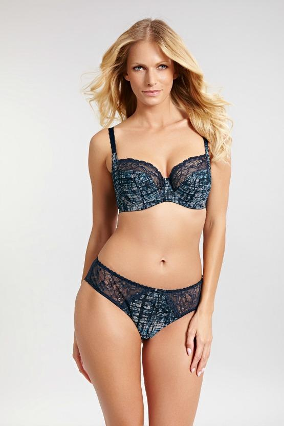 f29830adb1f Gorgeous stretch lace is paired with a dramatic print for a lingerie set  that s sure to wow. With a super comfortable