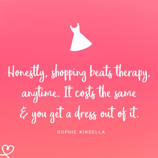 shopping quotes retail therapy
