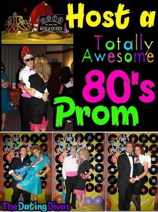 1980s Prom adult birthday party idea