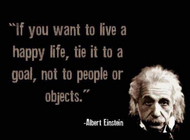 If you want to live a happy life, tie it a goal, not to people or objects.