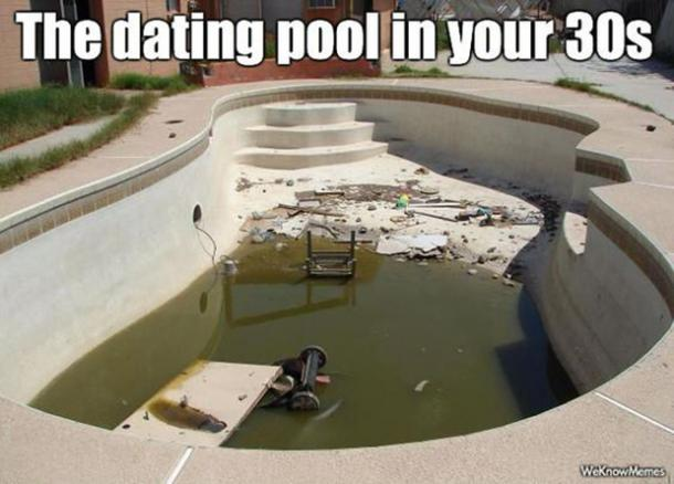 dating pool 30th birthday meme