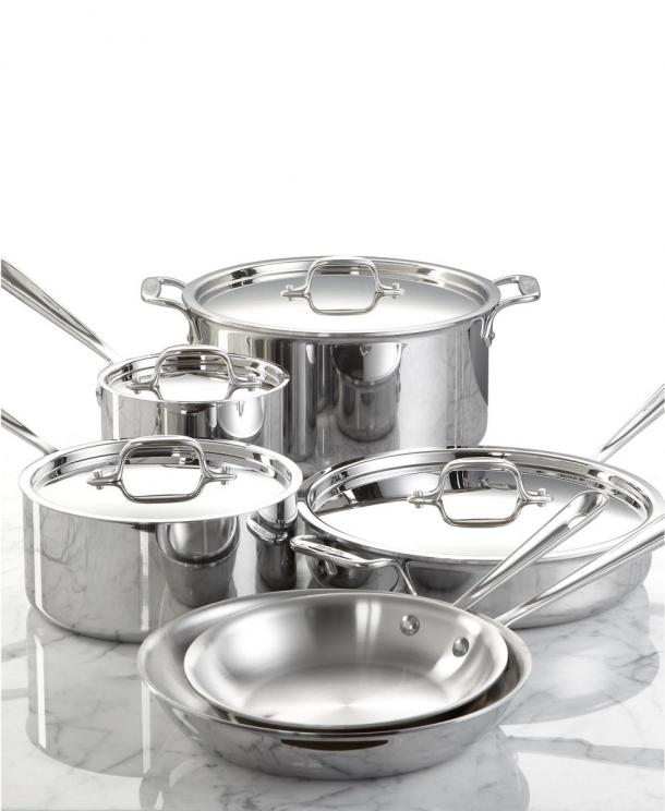32.%20All Clad%20D3%20Stainless%2010 Piece%20Set