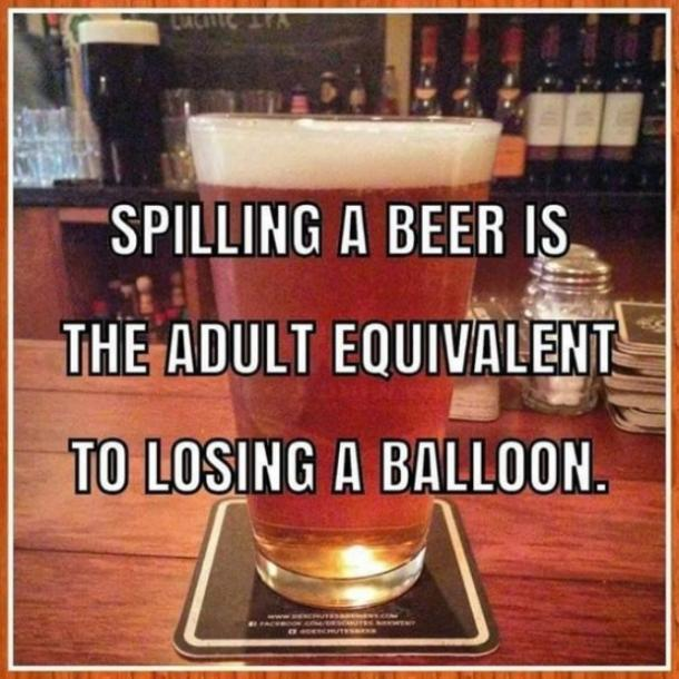 spilling a beer puns national beer day memes