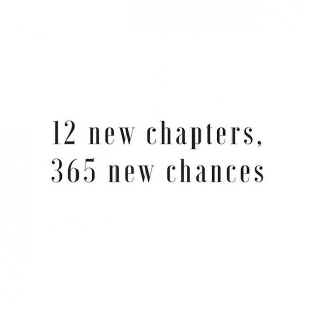 12 new chapters, 365 new chances.