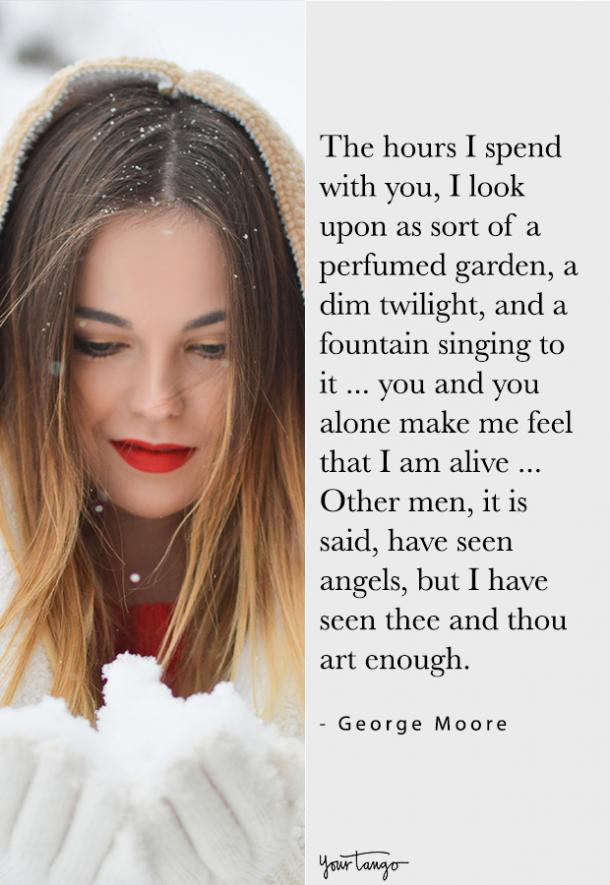 george moore compliment quote