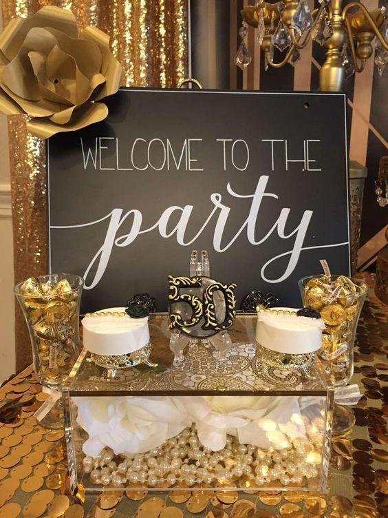 The Great Gatsby themed adult birthday party idea