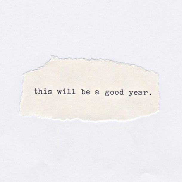 This will be a good year.