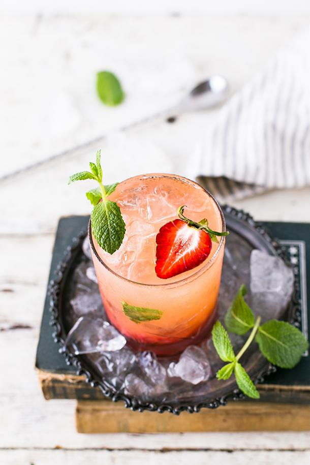 Strawberry Gin Smash BBQ Cocktail Drink Recipes