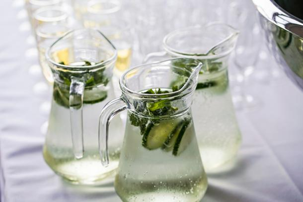 White Cucumber Sangria BBQ Cocktail Drink Recipes
