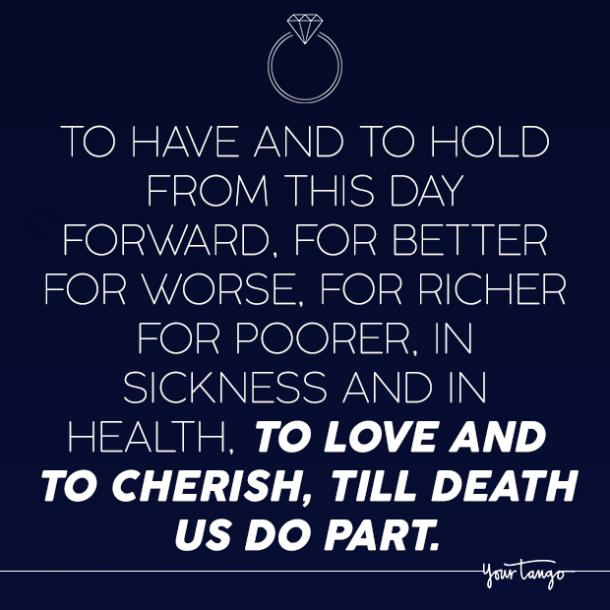 wedding quotes for better or for worse marriage vows