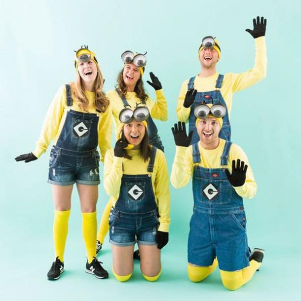 Minions group halloween costume