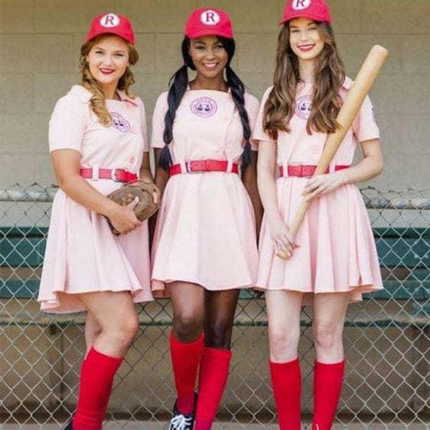 Baseball group halloween costume