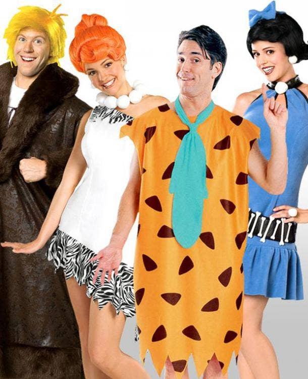 Flinstones group halloween costume