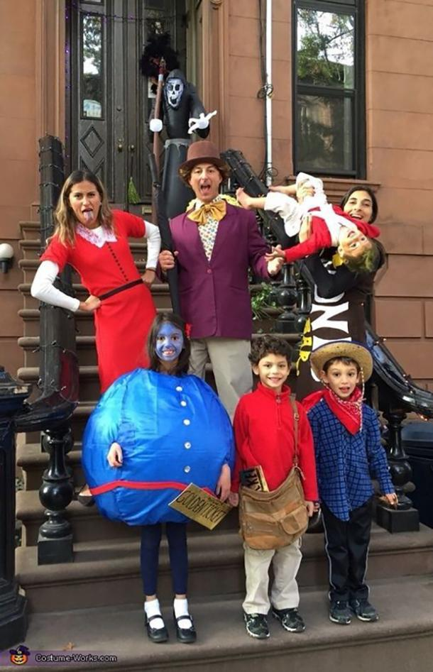 willy wonka group halloween costume