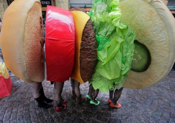 hamburger group halloween costume