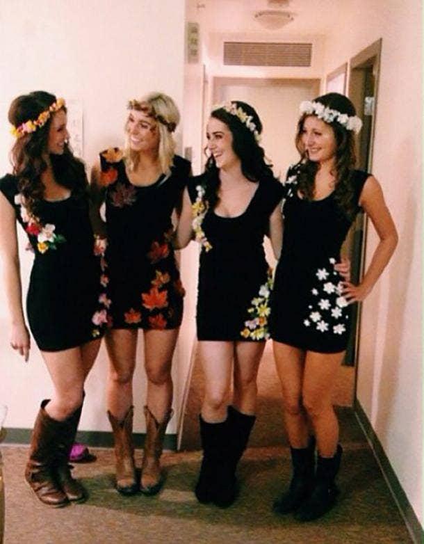 the four seasons group halloween costume