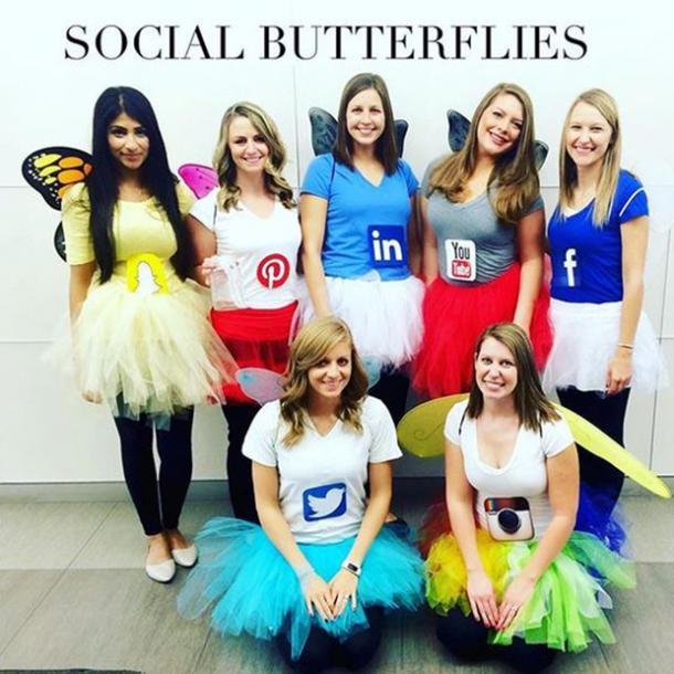 social media group halloween costume
