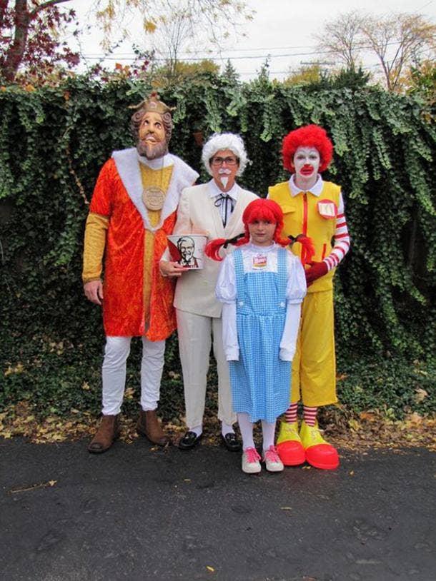 fast food group halloween costume
