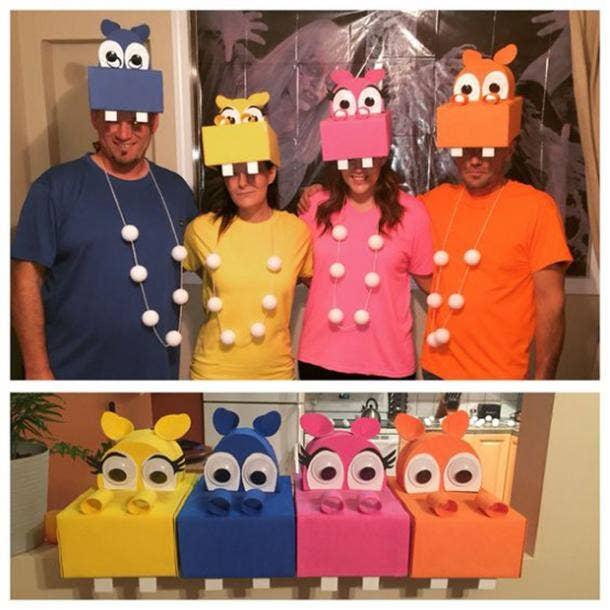 hungry hippos group halloween costume