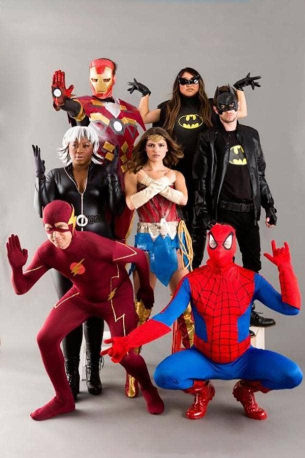 superhero group halloween costume
