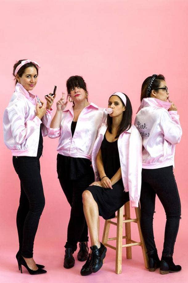 Grease pink ladies group halloween costume