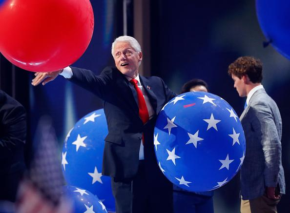 Bill Clinton with balloons