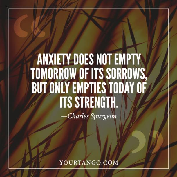 Charles Spurgeon Anxiety Quote