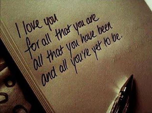"""All you're yet to be. """""""