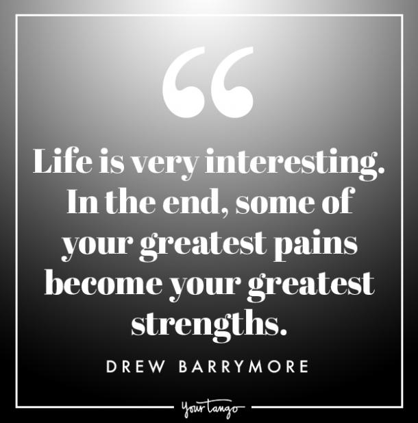 drew barrymore quote about strength